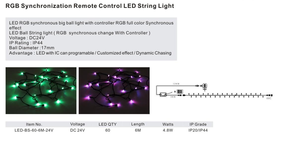 LED Light String Series:LED-BS